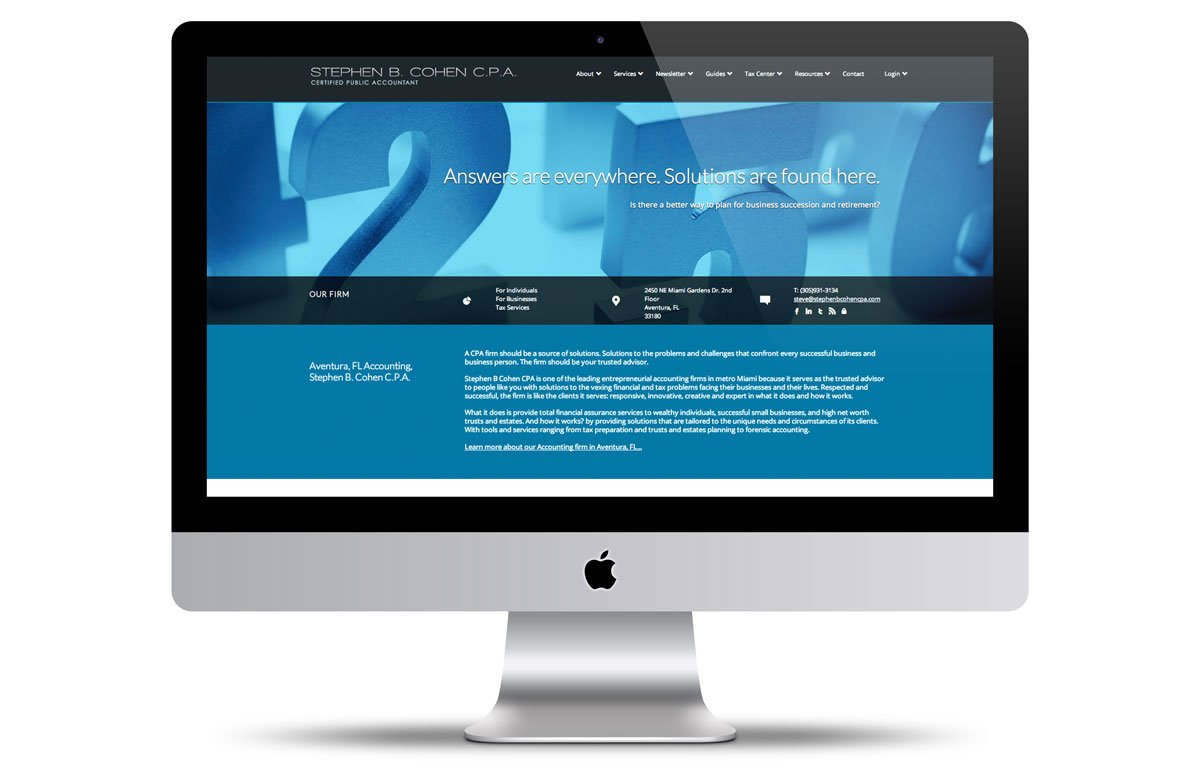 vortex-miami-web-design-stephen-b-cohen-cpa