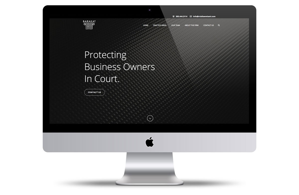 Miami Web Design Portfolio Barakat Law Firm Vortex